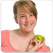 De gastouder met appel.